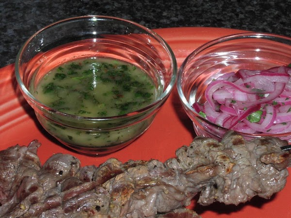 Beef Skewers With Cilantro Chimichurri Recipe