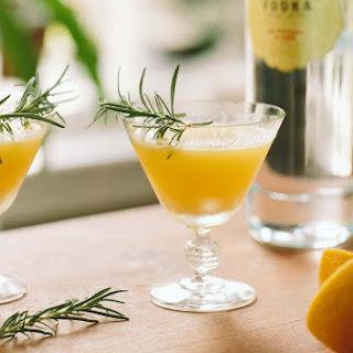 Golden Beet, Vodka, + Rosemary Cocktail.
