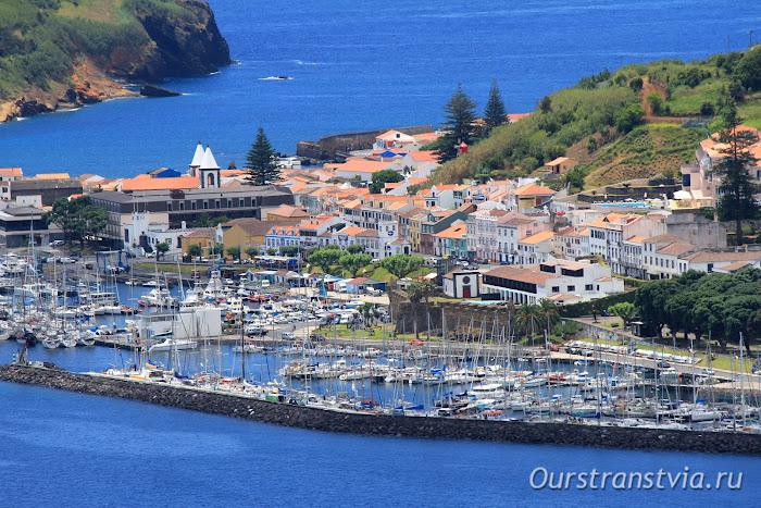 Хорта - столица острова и порт