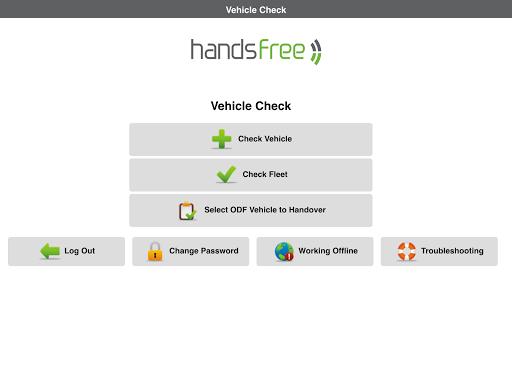 Handsfree Vehicle Check