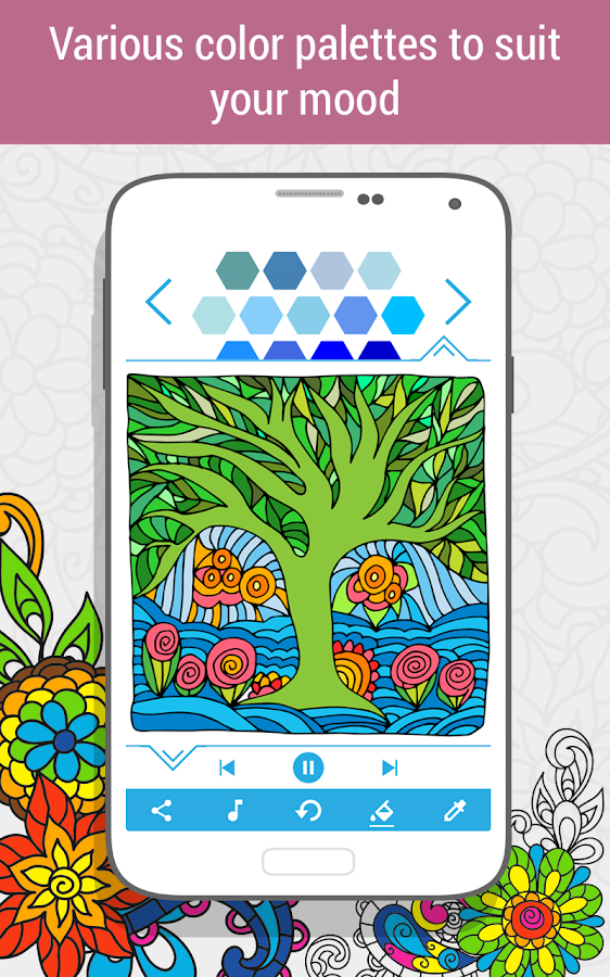 Coloring Book For : Coloring book for adults 🎨 holicoloring android apps on google play