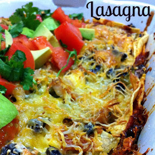 Enchilada Lasagna With Chicken and Black Beans