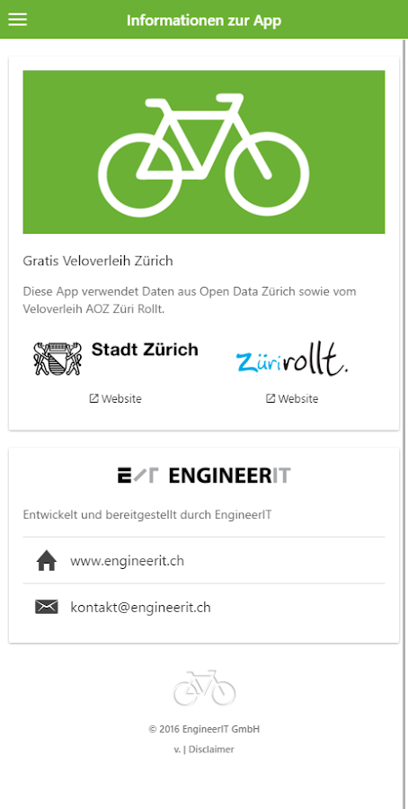 Zurich Free Bike Rental- screenshot