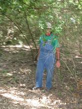 Photo: Ken Smith working track near Mosquito Bend.   HALS 2009-0620