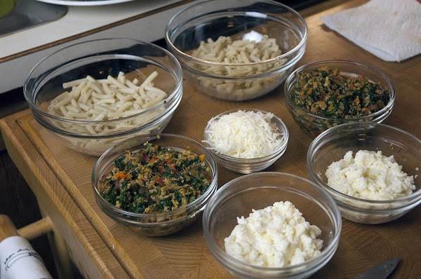 Divide the pasta into two equal halves. You should now have two halves of...
