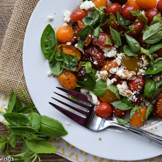 Grilled Tomato Salad With Feta And Basil