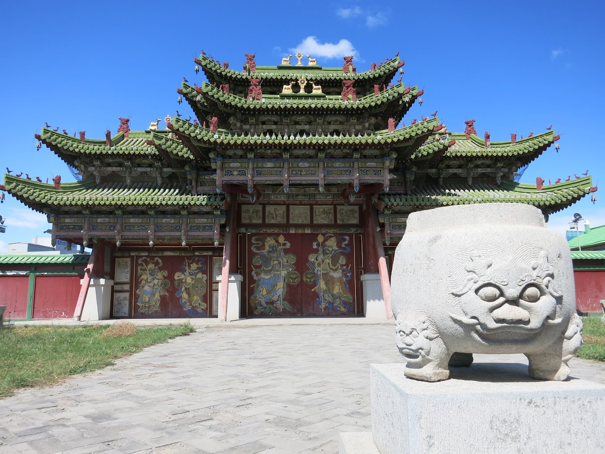 Mongolia. Ulaanbaatar. Gate to Winter Palace of the Bogd Khan