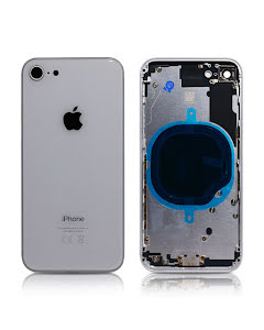 iPhone 8G Housing without small parts HQ Silver