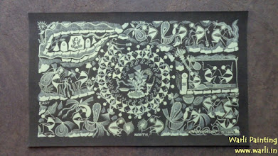 Photo: Warli Painting On Canvas (Art Type SB). Mail us for requirements.