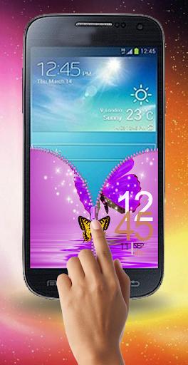 無料工具Appのラブリーバタフライジッパーロック|記事Game
