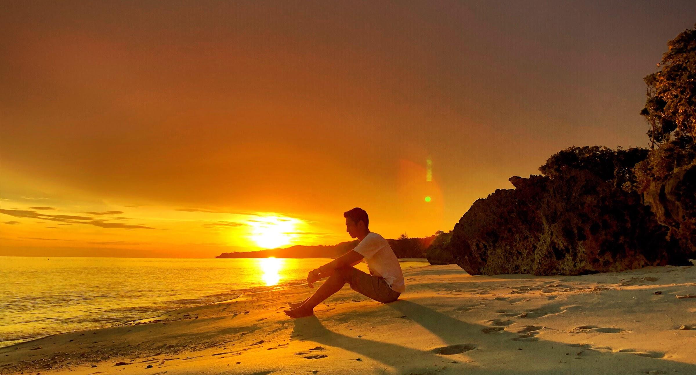 Menikmati Sunset di Pantai Bara, Bulukumba