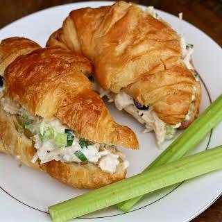 The Best 10 Minute Chicken Salad Croissants.