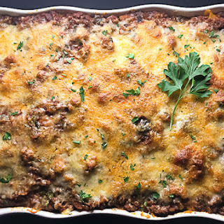 Gluten Free Baked Ziti With Spinach & Mushrooms.