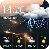 Funny Weather Clock Widget