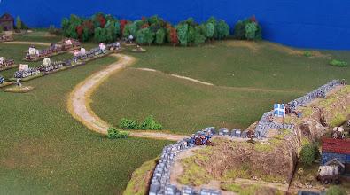 Photo: La battaglia vista dalle mura di Quebec.Miniature Baccus, materiale scenico TimeCast e autocostruito.