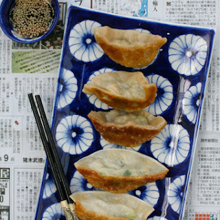 Chicken, Ginger and Spring Onion Gyoza/Jiaozi/Pop Sticker
