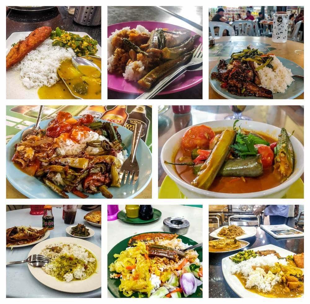 nasi+kandar+malay+indian+food+in+malaysia+penang