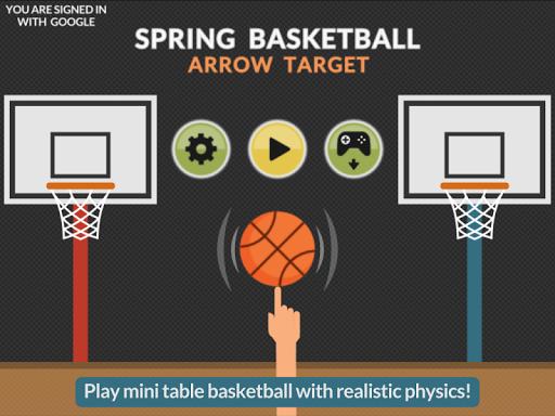 Spring Basketball Arrow Target