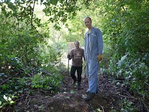 Photo: Olive et J-Marie les chefs de la Troglo sont venus nous aider Merci à eux