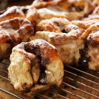 Chocolate And Cherry Buns.