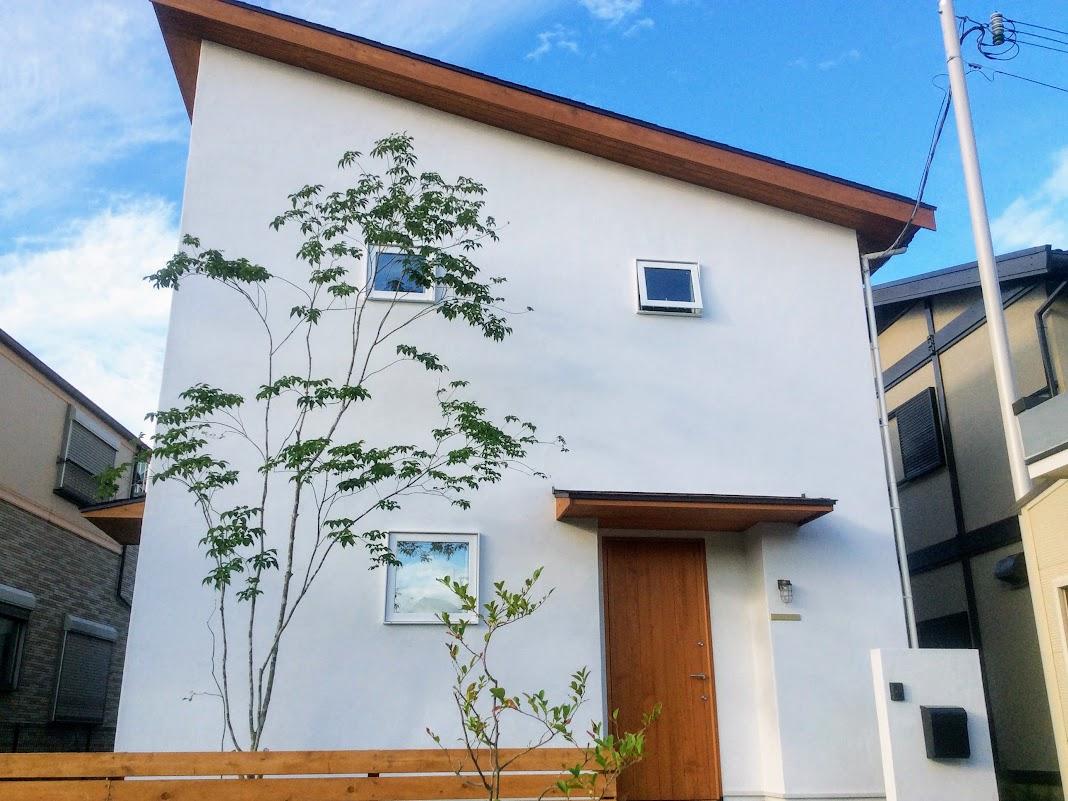 新築片流れ屋根のお家の外観