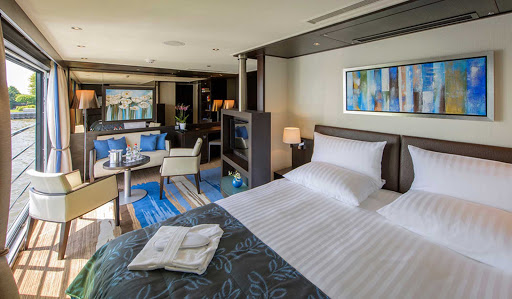 Avalon-Illumination-Royal-Suite - Pamper yourself by booking the Royal Suite on Avalon Illumination and cruise the storied Danube River.