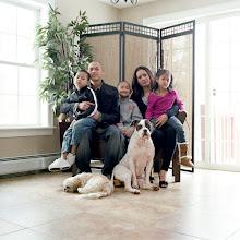 Photo: title: Vuthi, Sary, Kason, Kaden & Kyla Roeun, Gray, Maine date: 2011 relationship: friends, met through Emma Hollander years known: Vuthi, 15-20; Sary, Kason, Kaden & Kyla, 0-5