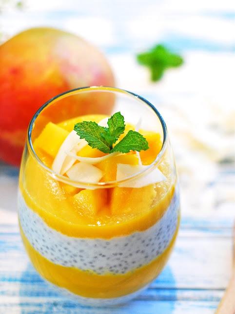 健康遠見 - 對身體好!:30秒清爽甜點!芒果椰香奇亞籽優格布丁