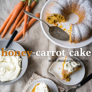 Honey-Carrot Cake with Mascarpone Cream