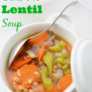 Weight Watchers Friendly Lentil Soup.