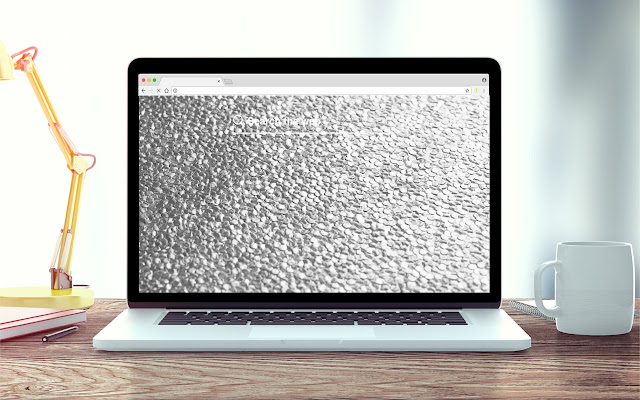 Chrome and Silver New Tab Background Theme