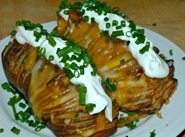 ?.•?•hasselback Garlic Potatoes W/ Bacon & Cheese Recipe