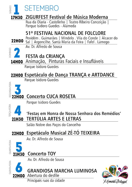 Programa das Festas de Nossa Senhora dos Remédios – 2018 – Lamego