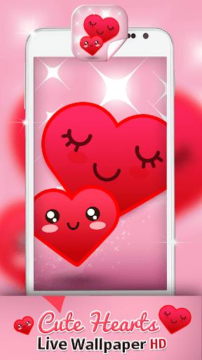 Cute Hearts Live Wallpaper HD