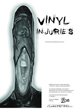 Photo: Poster for Vinyl Injuries event. Design by Michael Nolan.