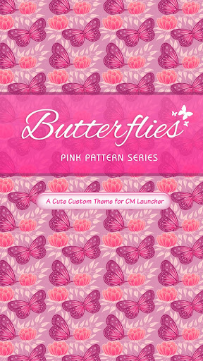 ❤️Pink Butterfly CM Launcher❤️