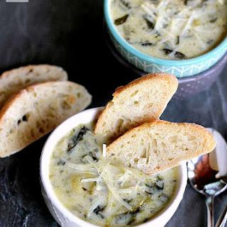 Slow Cooker Spinach Artichoke Parmesan Soup