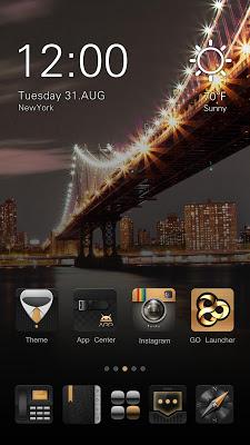 Noble GO Launcher Theme - screenshot