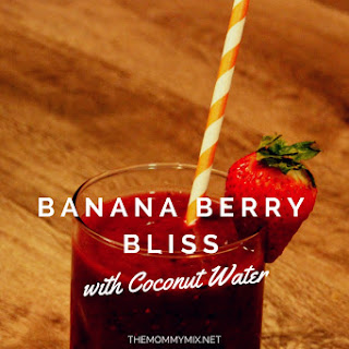 Banana Berry Bliss Smoothie with Coconut Water.