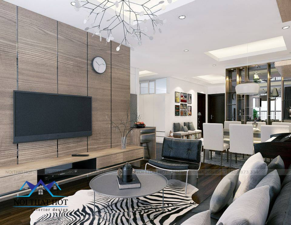 Thiết kế nội thất chung cư với phòng khách đẹp
