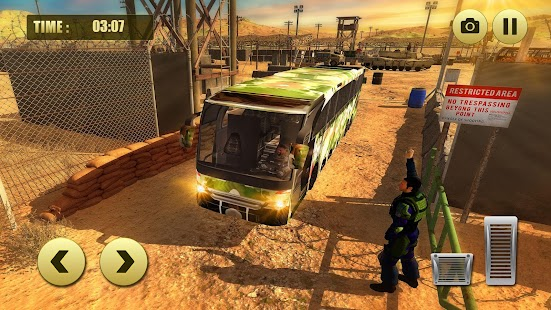 Offroad Army Coach Bus driver Hill Simulator 18 - náhled