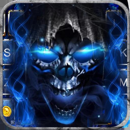 Blue Grim Reaper Keyboard Theme Icon