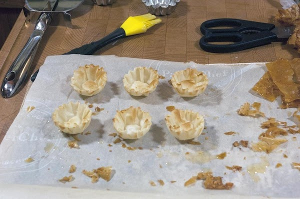 Remove from the oven, and allow the shells to cool.