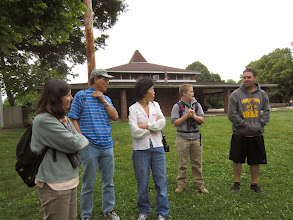 Photo: Rec Leader Bill Salvatore tells the group about Houston Playground's history and current programming