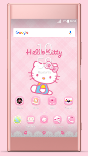 Pink Kitty ND Xperia Theme - náhled