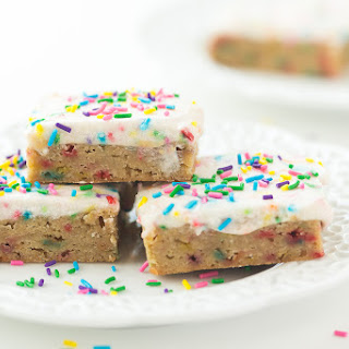 Funfetti Frosted Blondies
