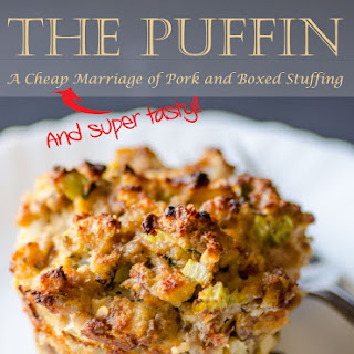 PORK AND STUFFING MUFFIN - THE PUFFIN!