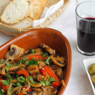 Tapas Tuesday - Chorizo, Mushrooms and Onions.