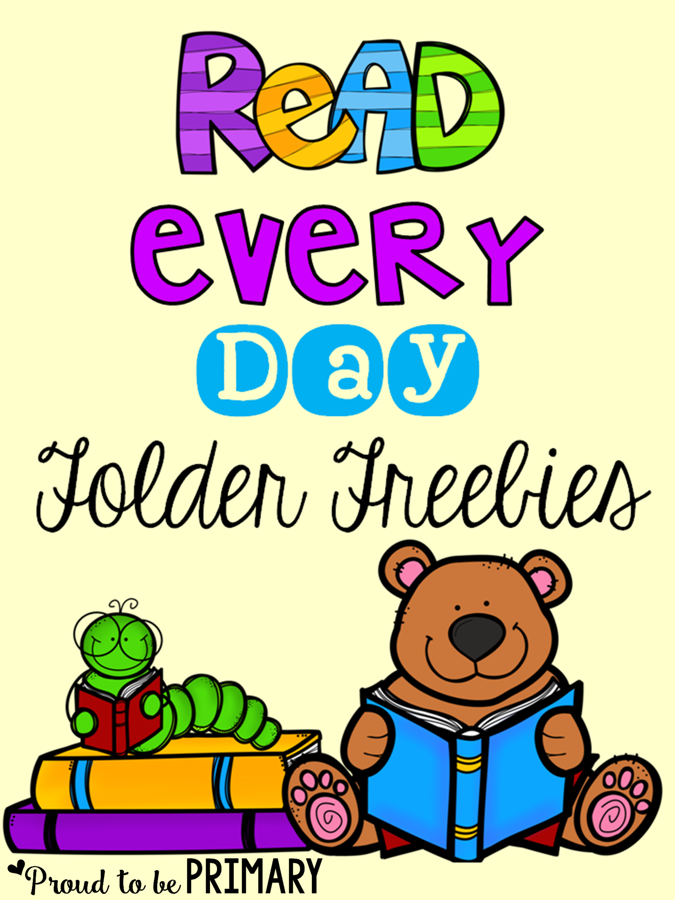 setting up a classroom and home reading program - read every day folder freebies