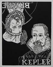 """Photo: Kepler/Brahe, 15 x 11.75"""", woodcut"""